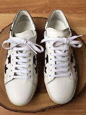 Saint Laurent Court Classic Sneakers White/Black Stars Not Golden Goose Size 40