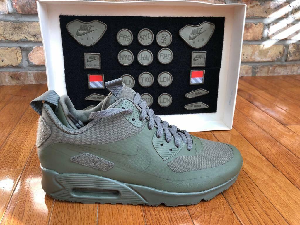 first rate 0ccb6 8e860 Mens Nike Air Air Air Max 90 Sneakerboot SP 704570-300 Steel Green NEW Sz