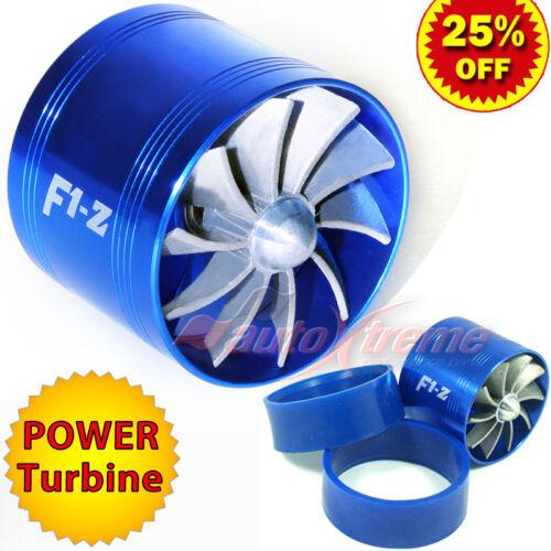 "64-74mm 2.5/""-2.9/"" TURBO CHARGER AIR INTAKE TURBONATOR Gas Fuel Saver Fan BLUE"