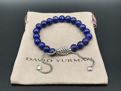 DAVID YURMAN Women/'s Lapis Lazuli Spiritual Bead Bracelet NEW