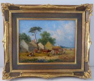 Wiiliam-Shayer-1811-1892-Ol-auf-Leinwand-baeuerliche-Ernteszene-1849