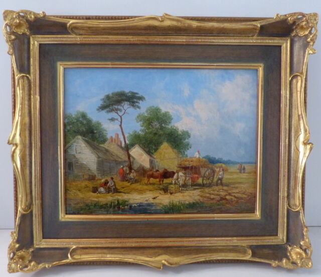 Wiiliam Shayer, 1811-1892, Öl auf Leinwand, bäuerliche Ernteszene, 1849,