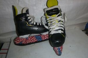 youth-boys-sz-13-Bauer-supreme-S27-Hockey-ice-skates-REAL-NICE-free-guards