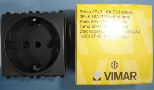 VIMAR 20209 Eikon grigio scuro antracite presa Unel Schuko 2P+T 16A P30 outlet
