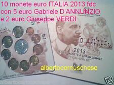 2013 10 monet 10,88 EURO fdc ITALIA BU Italie Italien Italy 5 D Annunzio 2 Verdi