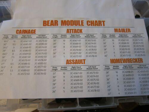 NEW Bear Archery Module #8.5 RH Carnage Attack Mauler Assault More Listed AR5