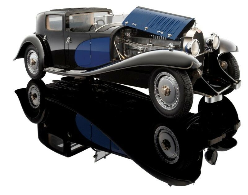 BAUER - BUGATTI Royale - Coupe de Ville 1930 blå   svkonst 1  18 BAUER HB3293J4