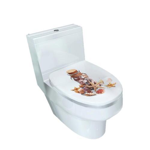 3D Toilet Bathroom Decor Vinyl Art Decals Removable Sticker Seat Stickers Decor