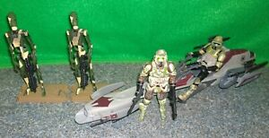 Star Wars ROTS Kashyyyk Conquest Battle Droid + BARC Speeder + Clone Trooper LOT