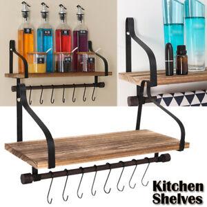 Wall-Mount-Pot-Pan-Rack-Shelf-Cookware-Shelf-Saucepan-Holder