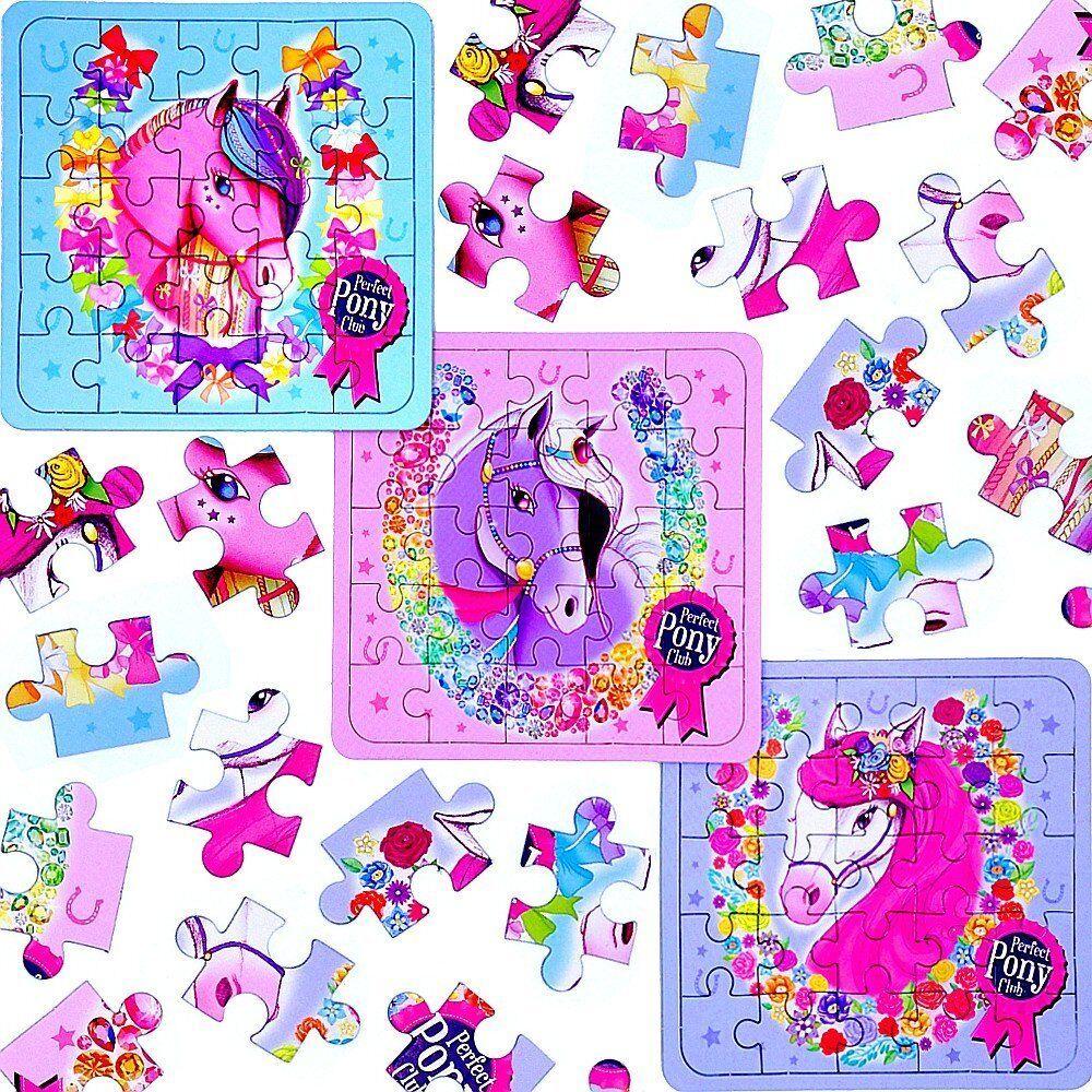 German Trendseller® - 6 x Pferde Party  - Puzzle   Party Kindergeburtstag   Mitgebsel   637f9a