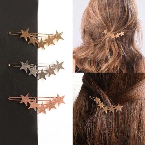 AM/_ WOMEN FASHION FIVE-POINTED STAR HAIRPIN HAIR CLIP ACCESSORIES HEADDRESS NICE