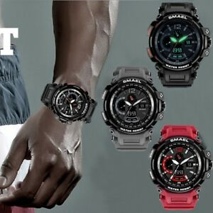 SMAEL-Military-Watches-for-Men-Chronograph-Sport-Work-Digital-Quartz-Wrist-Watch