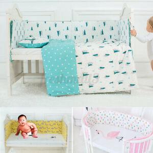 Infant Newborn Baby Crib Bumper Cushion Pad Nursery Bedding Protector  AU2 L0