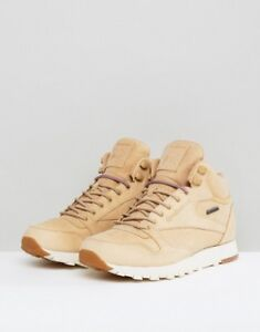 official site largest selection of 2019 100% authenticated Details about NEW REEBOK CLASSIC LEATHER MID GTX-THIN BEIGE BROWN SZ 8 MENS  BS7882