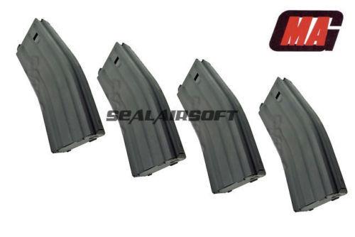 Mag 170rd COMPLETO METAL AIRSOFT Juguete Revista para  Systema y AEG 4PCS Negro  promociones de equipo