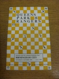 09-10-1971-Queens-Park-Rangers-v-Birmingham-City-Neat-Team-Changes-Thanks-fo
