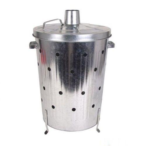Feuertonne 75 Liter zink Feuer Feuerschale Verbrennung Garten Verbrennungsgefäß