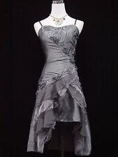 Cherlone Grey Prom Party Ball Evening Bridesmaid Formal Knee Length Dress 14