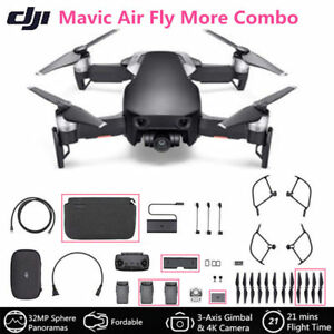 DJI Mavic Air Fly More Combo Onyx Black Portable Drone 3-Axis Gimbal & 4K Camera