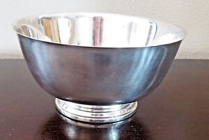 Vintage-Oneida-Silverplated-Paul-Revere-1768-Reproduction-Round-Pedestal-Bowl