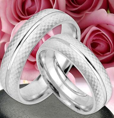 2 Ringe Trauringe Eheringe Verlobungsringe , Silber 925 , Gravur Gratis , Jk58 Einfach Zu Schmieren