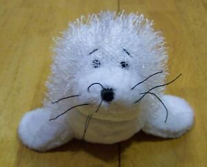 GANZ-Webkinz-FUZZY-WHITE-SEAL-10-034-Plush-Stuffed-Animal