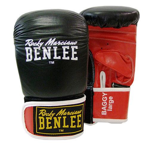 BAGGY Gerätehandschuhe aus Leder Benlee Boxsack Kickboxen langer Klett.Boxen