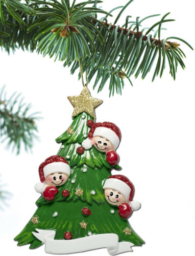 Personalized Christmas Tree Ornament Holiday Gift Tree for Family of 2-3-4-5