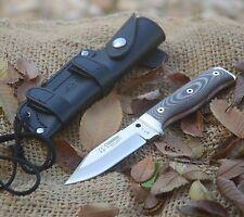 Cuchillo Cudeman Mt-1 hoja 11 cm acero Mova Micarta negra Snife Messer  Coltello bde1012f8f1