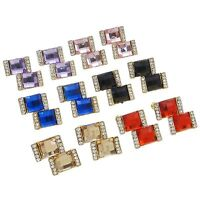 Wholesale Lot 10 Pairs Mix Vintage Style Glam Bling Colored Rhinestone Earrings