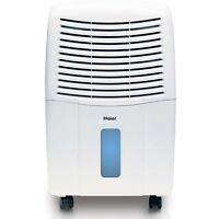 Haier 2 Speed Portable Electronic Air Dehumidifier With Drain, 65 Pint | De65em on Sale