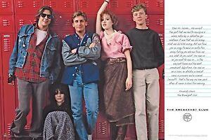 Breakfast Club by John Hughes Movie Classic Poster 24x36 Wall Art Print Photo