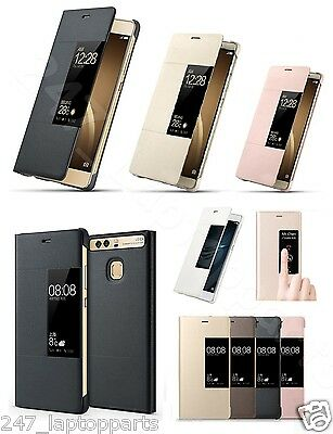 HUAWEI P9 Leather Smart Flip Window View AutoSleep Case Cover Stand NEW