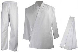 BZ Adult & Kids Karate Suit 7oz Uniform + Belt Martial Arts Childrens Mens Gi