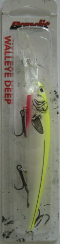 5//8 oz Pearl//Chartreuse Back Bandit Lures  Walleye Deep Diver