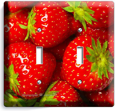 Strawberries Double Light Switch Wall Plate Kitchen Art Decor Living Dining Room Ebay