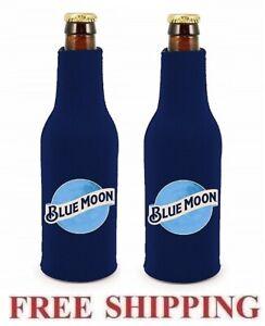 BLUE MOON 4 BEER BOTTLE SUIT COOLERS KOOZIE COOZIE HUGGIE COOLIE NEW