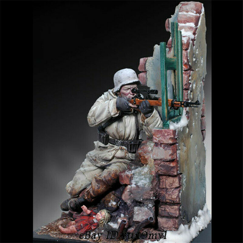 1 18 Germany Sniper Soldier Resin Kits Unpainted Model Unassembled