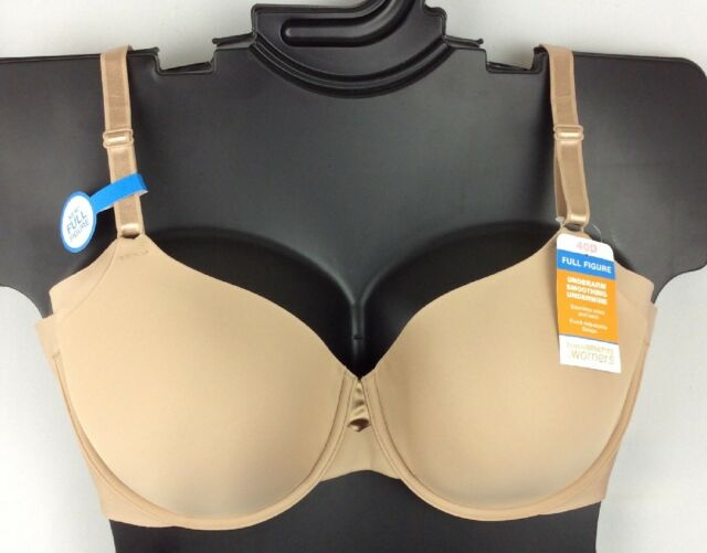 d0ec7e584ca NWT Warner s Blissful Benefits Full Coverage Smooth Underwire Bra Beige  RB0561W