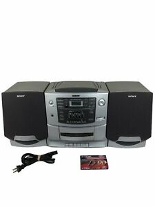 Sony CD Radio Cassette-Corder Boombox CFD-Z550 Portable Mega Bass Tested & Works