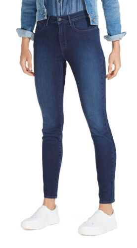 Wrangler Taille Haute Skinny Flex jeans stretch femme Mesdames subtile Denim Bleu