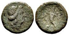 RARE Ancient Greece 208-205 BC SICILY AITNA SEXTANS PERSEPHONE CORNUCOPIA