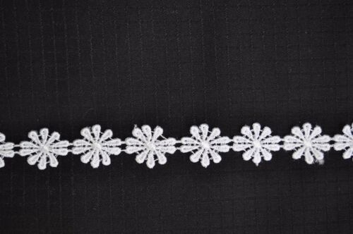 "Kiddo 7//8/"" Champagne Red Green Pink Gray Cuttable Daisy Flower Lace Trim by Yard"