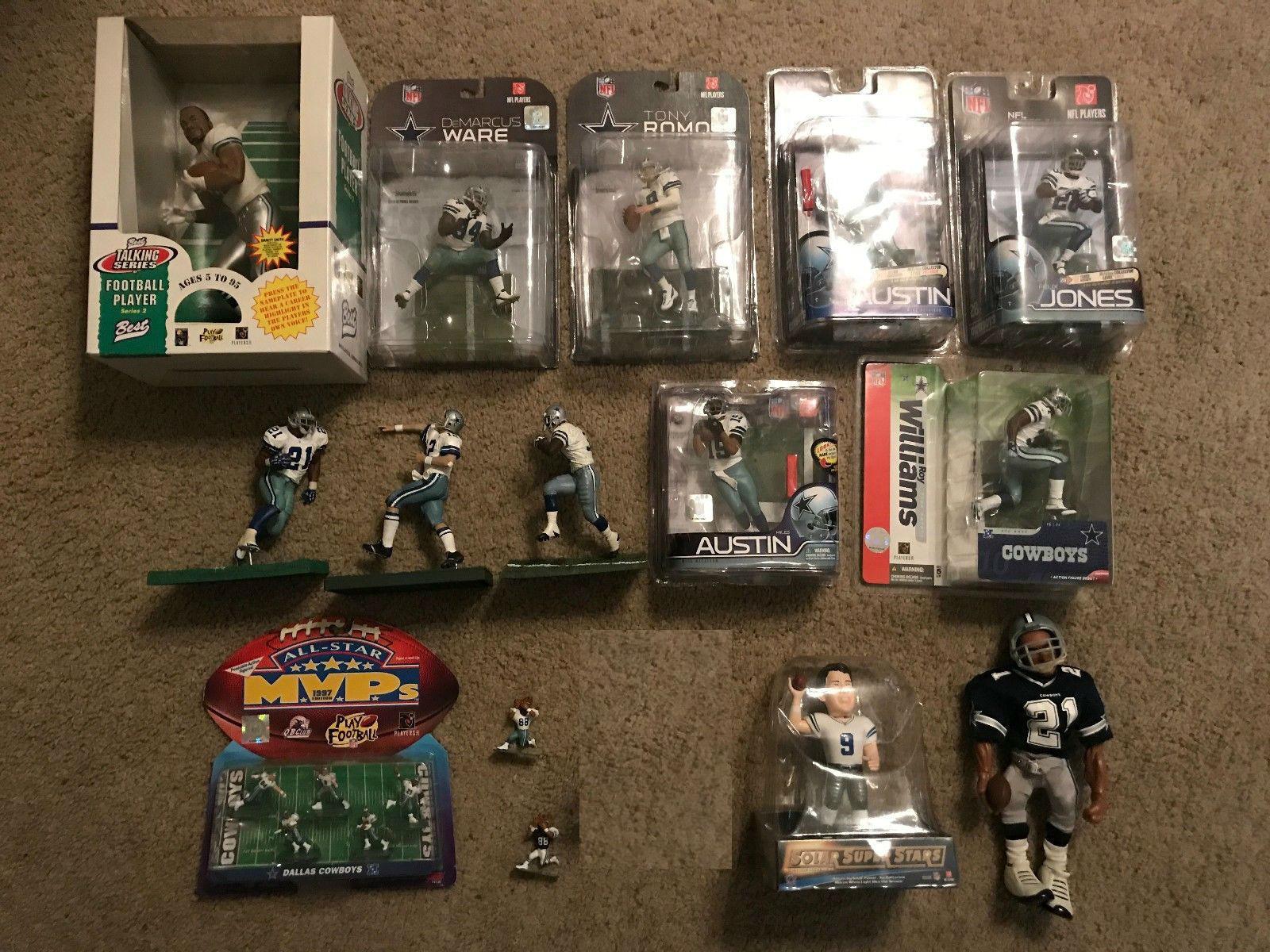 Huge Dallas Cowboys Figure Lot (Emmitt, Staubach, Romo & Many more)
