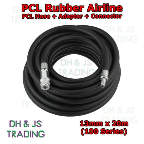 Connector 100 Series Couplings PCL Rubber Airline 13mm x 20m Hose Adaptor