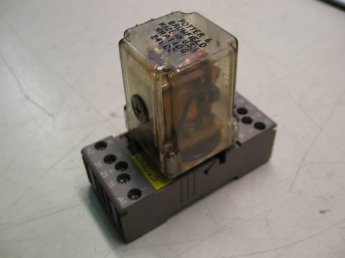 11 Pin w// Base Potter /& Brumfield Relay Used KRP14DG WARRANTY 24 VDC