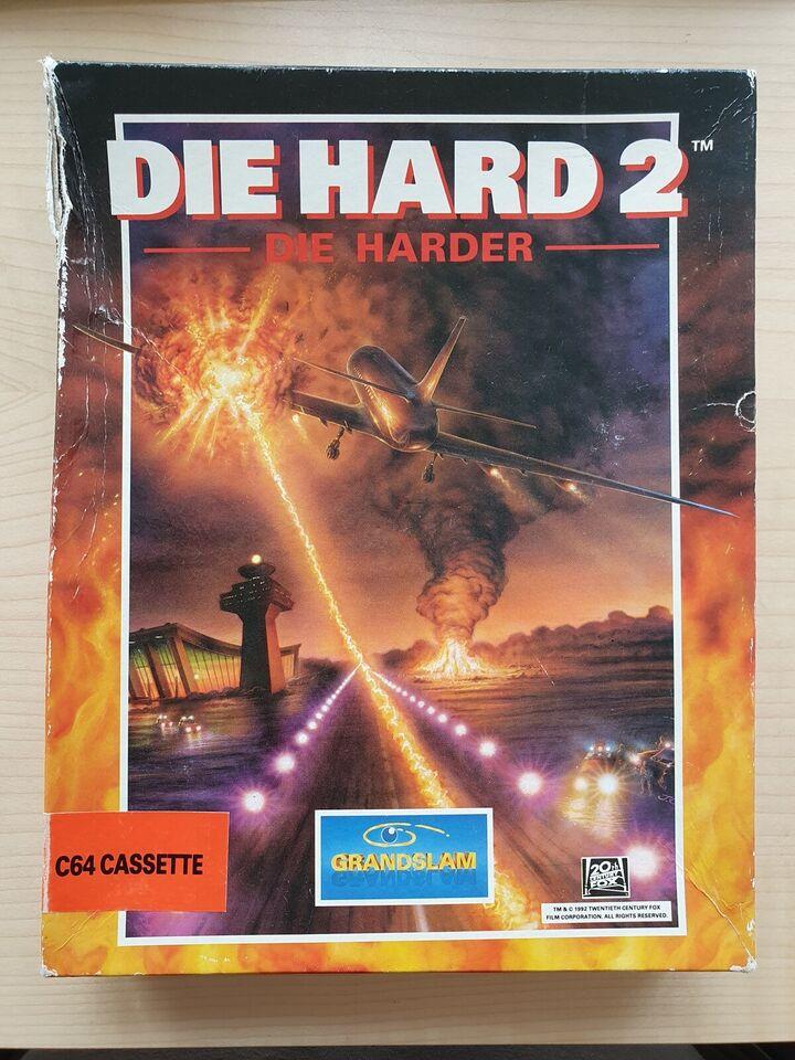 """** SOLGT ** Die Hard 2 - """"Die Harder"""", Commodore 64"""