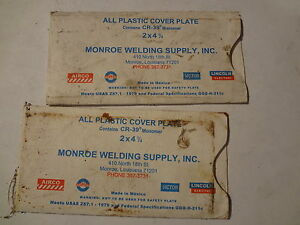 Details about (2) MONROE ALL PLASTIC COVER PLATE 2