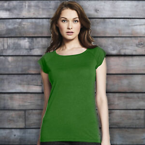 LADIES-LEAF-GREEN-T-SHIRT-TOP-BAMBOO-AND-ORGANIC-COTTON-JERSEY-ON-TREND-2019